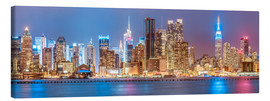 Canvas print  New York City Neon Colors Skyline - Sascha Kilmer