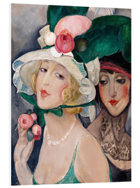 PVC print  Two Cocottes with hats  - Gerda Wegener