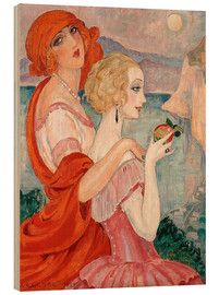 Hout print  On the road to Anacapri - Gerda Wegener