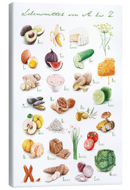 Canvas print  Food ABC - Nadine Conrad