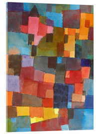 Acrylglas print  Room Architectures (On Cold-Warm) - Paul Klee