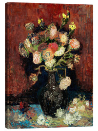 Canvas print  Vase with Chinese Asters and Gladioli - Vincent van Gogh