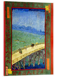 Acrylglas print  The Bridge in the Rain (after Hiroshige) - Vincent van Gogh