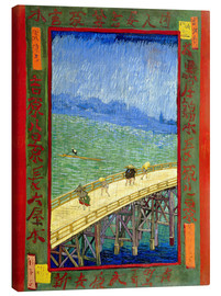 Canvas print  The Bridge in the Rain (after Hiroshige) - Vincent van Gogh