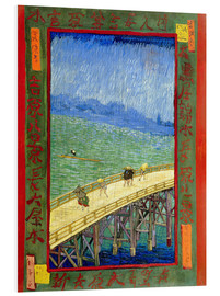 PVC print  The Bridge in the Rain (after Hiroshige) - Vincent van Gogh