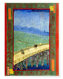 Premium poster The Bridge in the Rain (after Hiroshige)
