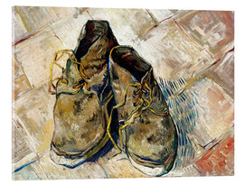 Acrylglas print  A Pair of Shoes - Vincent van Gogh