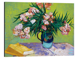 Aluminium print  Majolica Jar with Branches of Oleander - Vincent van Gogh