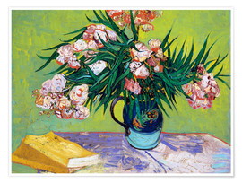 Premium poster Majolica Jar with Branches of Oleander