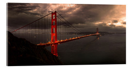 Acrylglas print  Golden Gate mystical brown - Michael Rucker