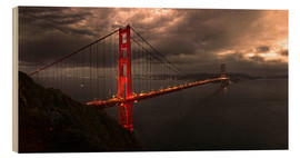 Hout print  Golden Gate mystical brown - Michael Rucker