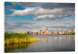 Acrylglas print  View over the river Warnow to Rostock (Germany) - Rico Ködder