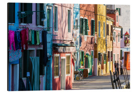 Aluminium print  Colorful facades on Burano island - Matteo Colombo