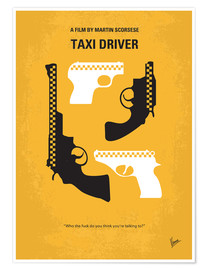 Premium poster No087 My Taxi Driver minimal movie poster