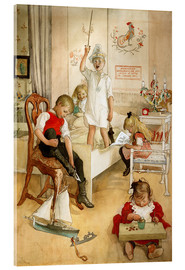 Acrylglas print  On the morning of Christmas Day - Carl Larsson