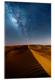 Acrylglas print  Milky way over dunes, Oman - Matteo Colombo