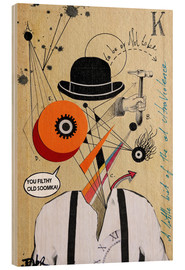 Hout print  A Clockwork Orange - Loui Jover