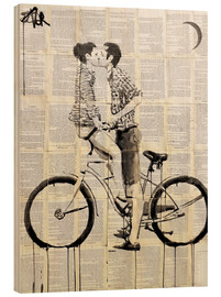 Hout print  love cycle - Loui Jover