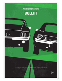 Premium poster No214 My BULLITT minimal movie poster