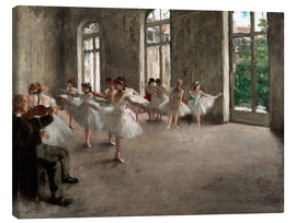 Canvas print  Balletoefening - Edgar Degas