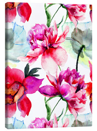 Canvas print  Poppies and peonies
