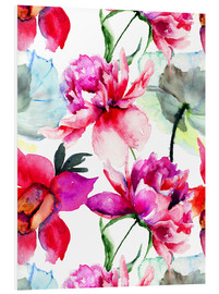 PVC print  Poppies and peonies