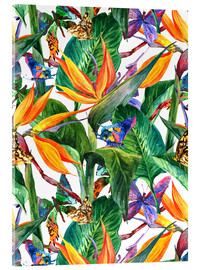 Acrylglas print  Tropical bouquet