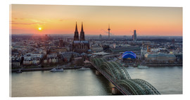 Acrylglas print  Panorama view of Cologne at sunset - Michael Valjak