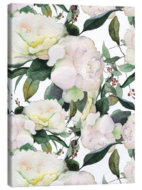 Canvas print  White peonies