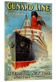 Acrylglas print  Cunard Line - Liverpool, New York, Boston - Edward Wright