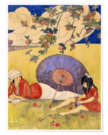 Premium poster  In the orchard. - Gerda Wegener
