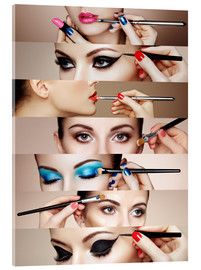 Acrylglas print  Make-up routine II