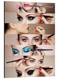 Aluminium print  Make-up routine II