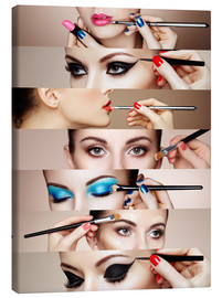 Canvas print  Make-up routine II