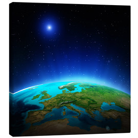 Canvas print  Europe on planet Earth