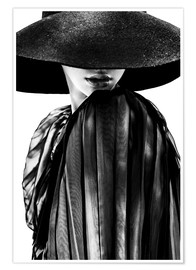 Premium poster  Woman with black hat