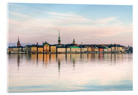 Acrylglas print  Stockholm city in Sweden, The Old Town (Gamla Stan)