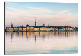 Aluminium print  Stockholm city in Sweden, The Old Town (Gamla Stan)