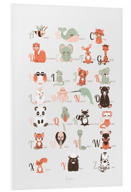 PVC print  ABC animals (French) - Kanzilue