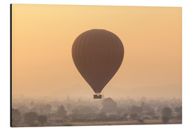 Aluminium print  Hot air balloon over temples of Bagan, Myanmar