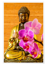Premium poster  Buddha with orchid