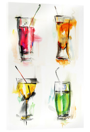 Acrylglas print  Colorful drinks