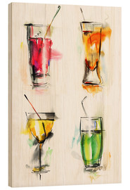 Hout print  Colorful drinks