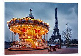 Acrylglas print  Carousel at the Eiffel Tower