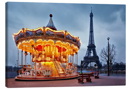 Canvas print  Carousel at the Eiffel Tower