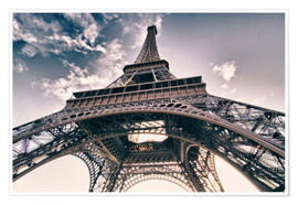 Premium poster  Paris - up to the sky and back
