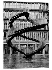 Acrylglas print  Endless steel stairway in Munich