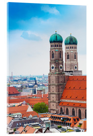 Acrylglas print  Towers of Frauenkirche in Munich