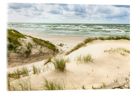 Acrylglas print  Sand dunes on the Baltic sea