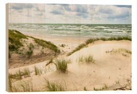 Hout print  Sand dunes on the Baltic sea